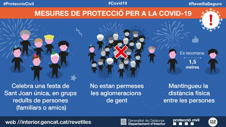 """La Generalitat engega la campanya de sensibilització """"Revetlla segura 2021"""""""