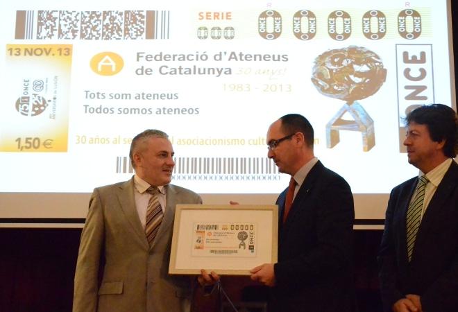 La FAC i l'ONCE presenten el cupó dels 30 anys!