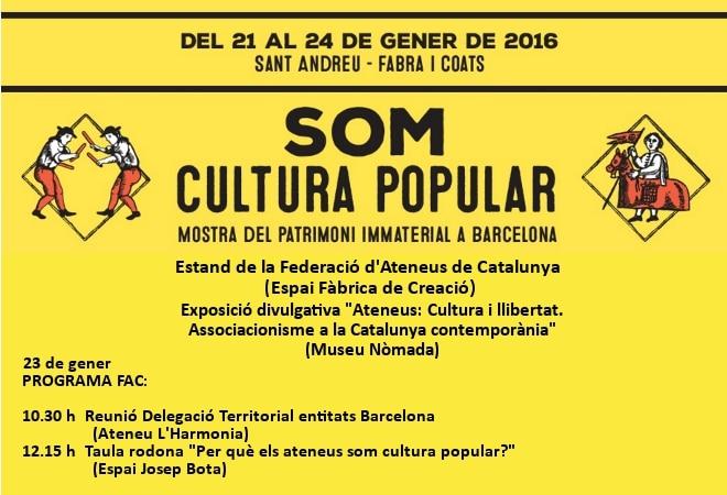 Els ateneus a la Mostra Som Cultura Popular 2016