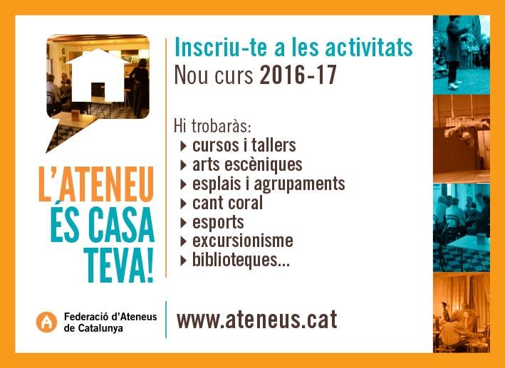 L'Ateneu és casa teva!