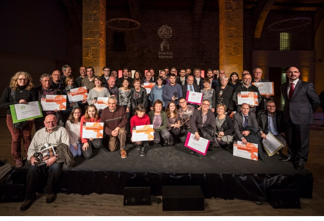 L'associacionisme cultural és guardonat als Premis Ateneus 2016