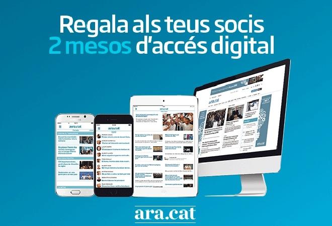 El diari Ara ofereix ofertes per entitats i per socis!