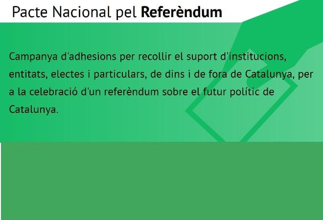 Adhesions al Pacte Nacional pel Referèndum