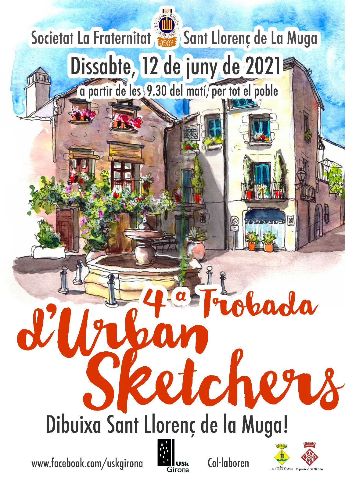 La Societat La Fraternitat organitza la 4ª Trobada d'Urban Sketchers
