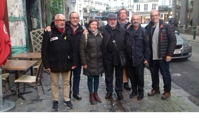 Els ateneus visiten a Lluís Puig a Brusel·les