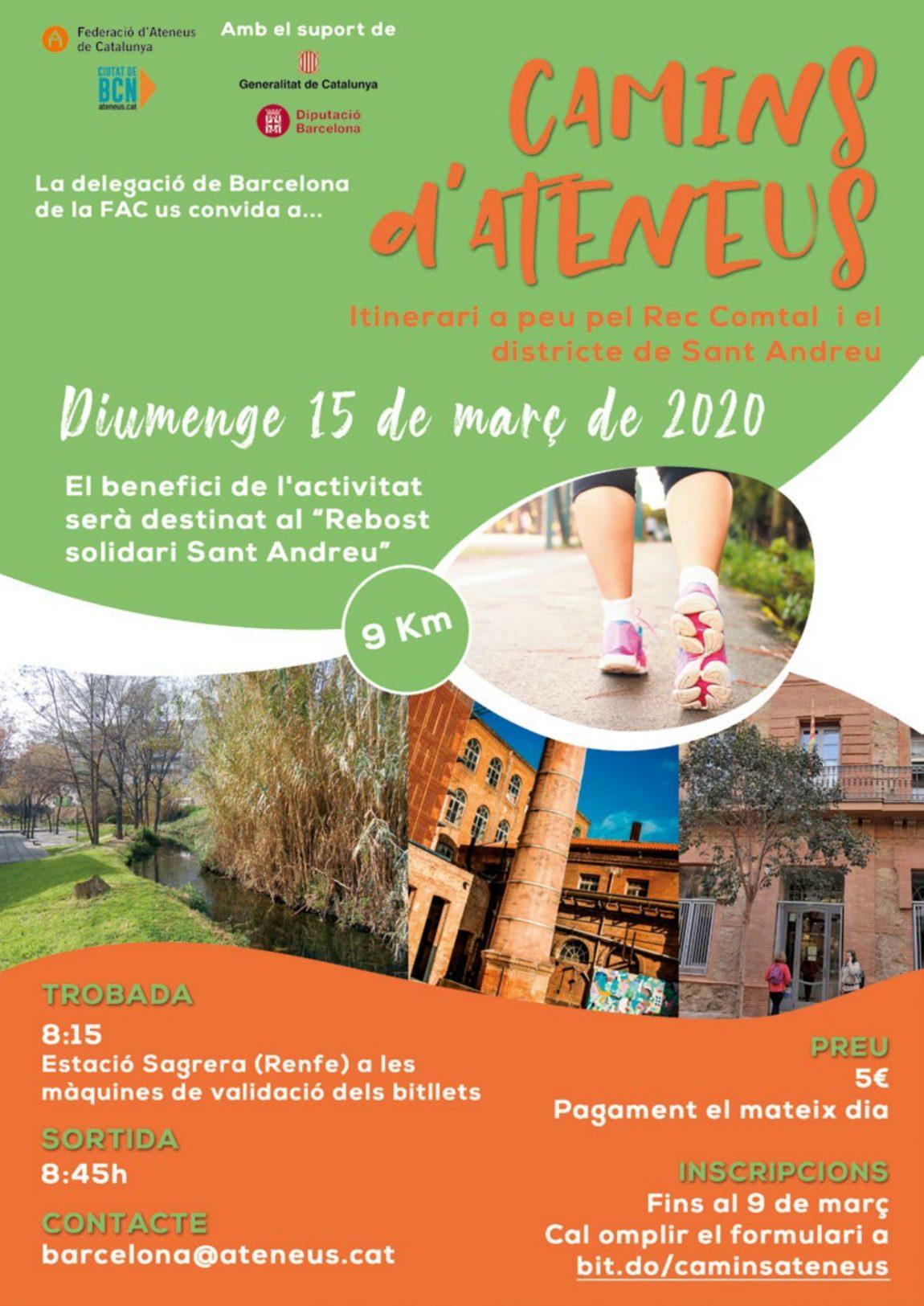 La DT de Barcelona organitza la segona edició de 'Camins d'Ateneus'. T'hi apuntes?