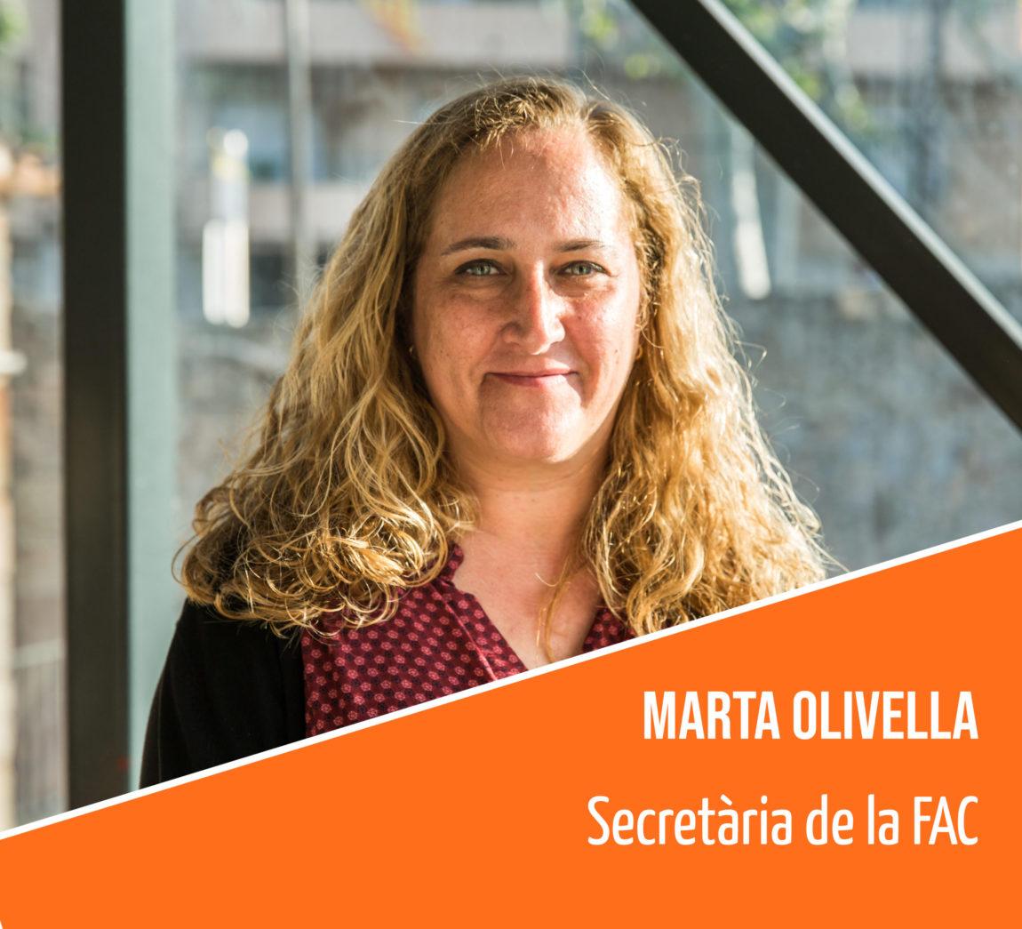 Coneix l'equip humà de la FAC: Marta Olivella, secretària