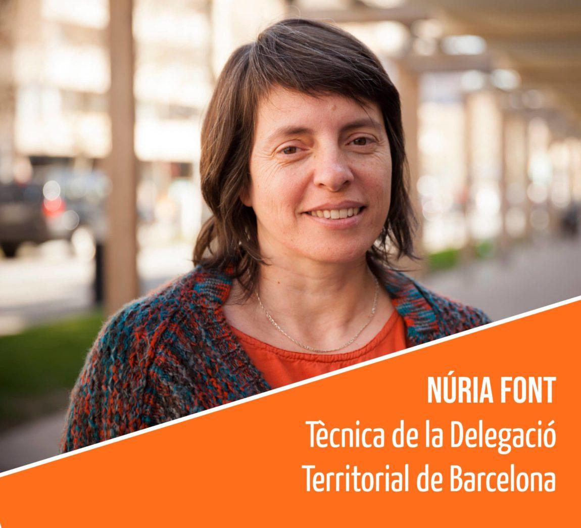 Coneix l'equip humà de la FAC: Núria Font, Tècnica de la Delegació Territorial de Barcelona