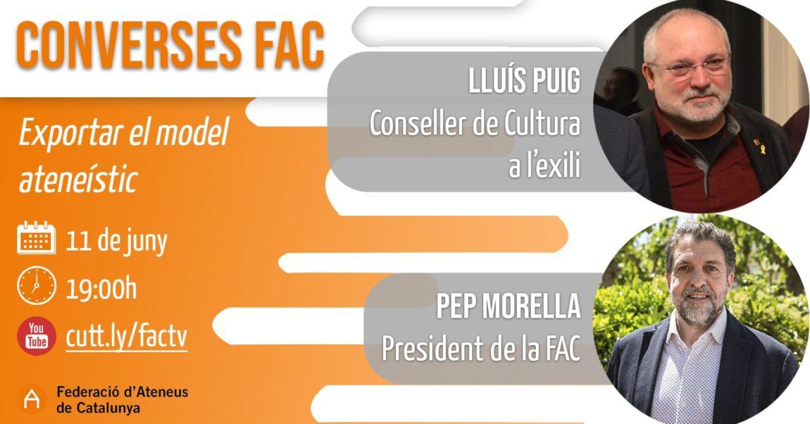 Lluís Puig i Pep Morella donaran el tret de sortida de les Converses FAC