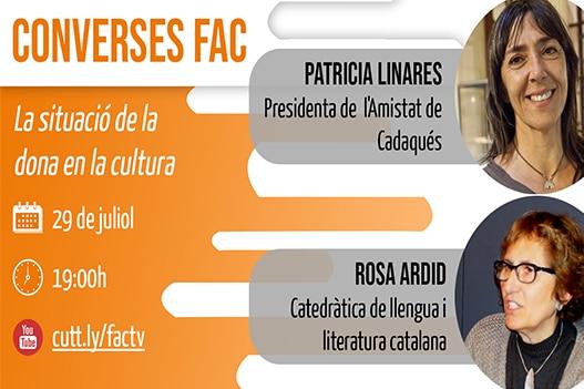 Ja podeu recuperar la Conversa FAC entre Patricia Linares i Rosa Ardid
