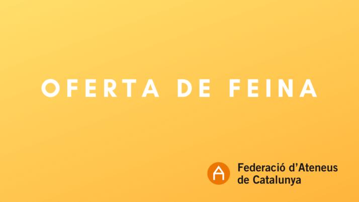 OFERTA LABORAL. Dinamitzador Cultural a Lleida