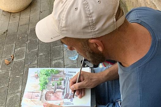 4a Trobada d'Urban Sketchers a la Societat de Sant Llorenç de la Muga