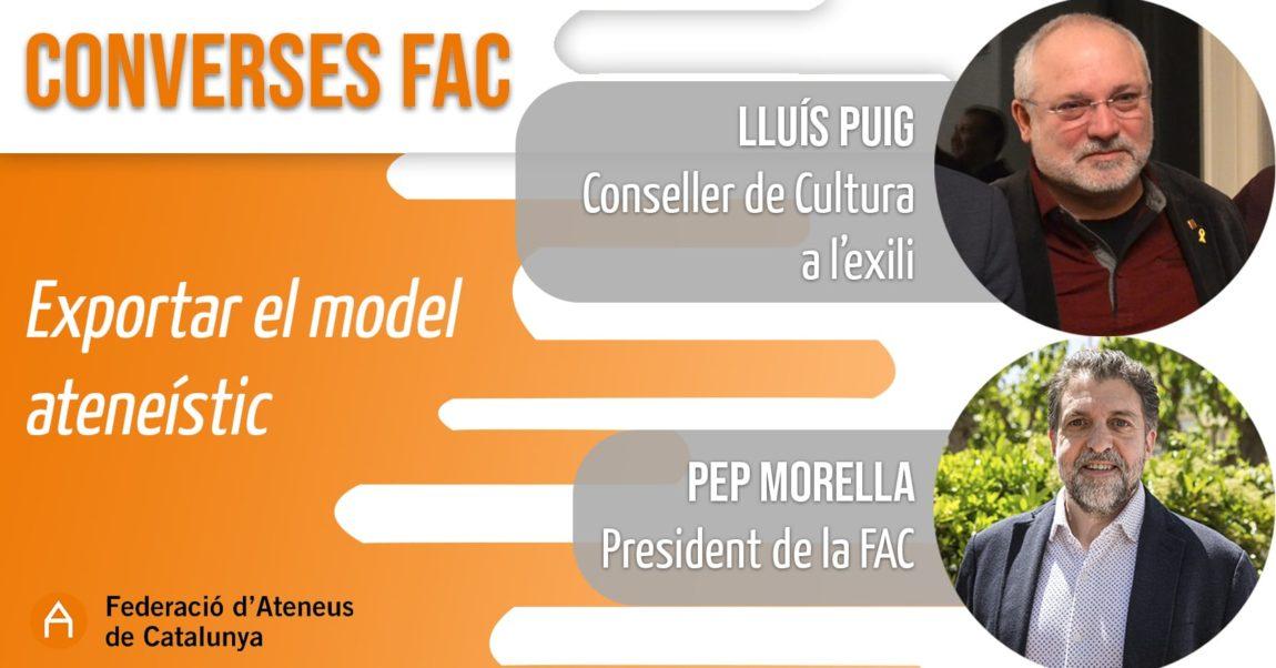 Ja pots recuperar la Conversa FAC entre Pep Morella i Lluís Puig