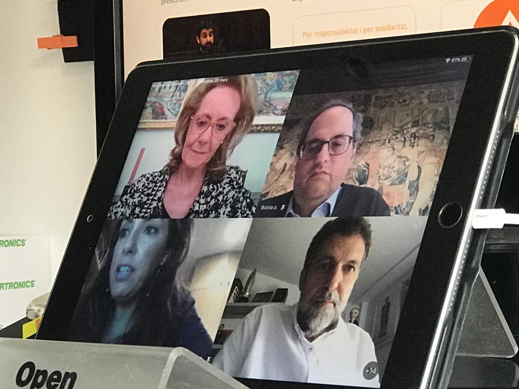El president de la FAC, Pep Morella manté una reunió telemàtica amb el president de la Generalitat i la consellera de Cultura