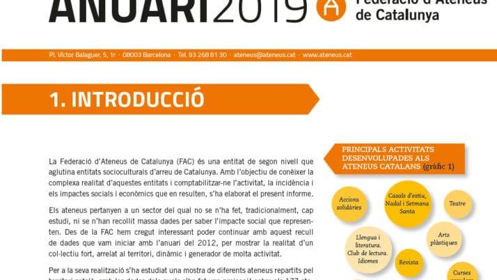 La FAC presenta les dades de l'Anuari 2019