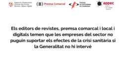 Comunicat dels editors de revistes, premsa comarcal i local i digitals