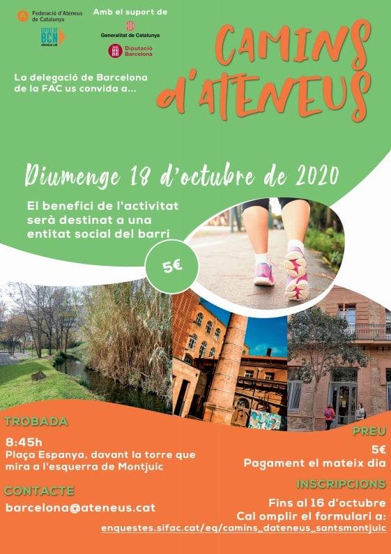 Camins d'Ateneus: Sants i Montjuïc. Inscriu-te!