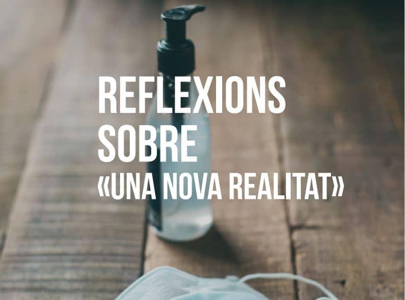 Ja podeu consultar el cicle de xerrades 'Reflexions sobre una nova realitat' impulsat per la delegació Terres de Ponent