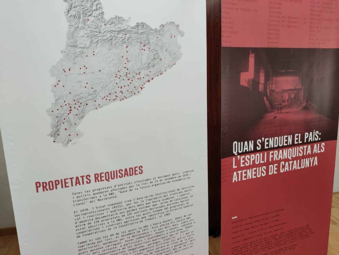 La FAC i La Mira presenten dijous l'exposició 'Quan s'enduen el país: l'espoli franquista als ateneus de Catalunya'