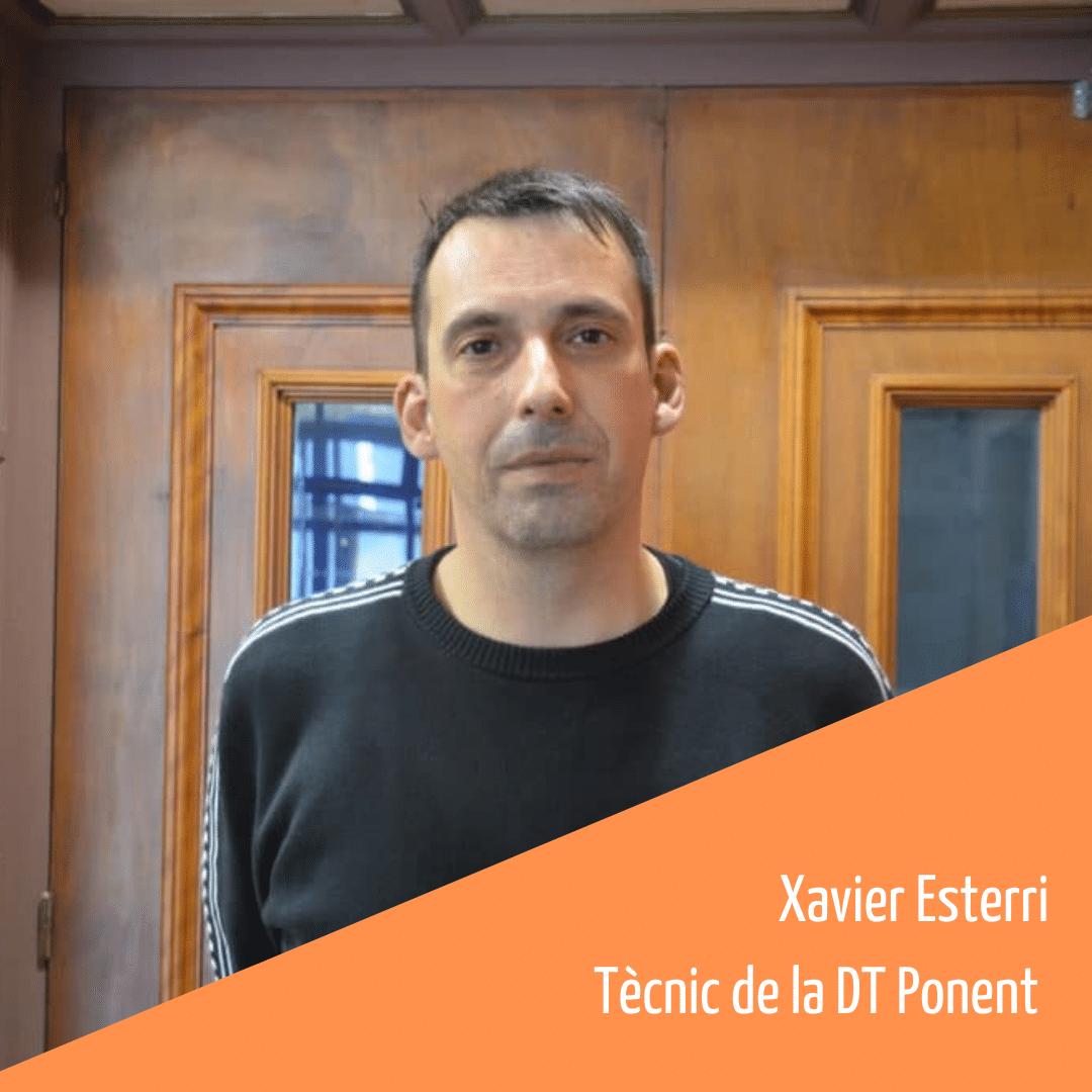 Coneix l'equip humà de la FAC: Xavier Esterri, tècnic de la Delegació de les Terres de Ponent