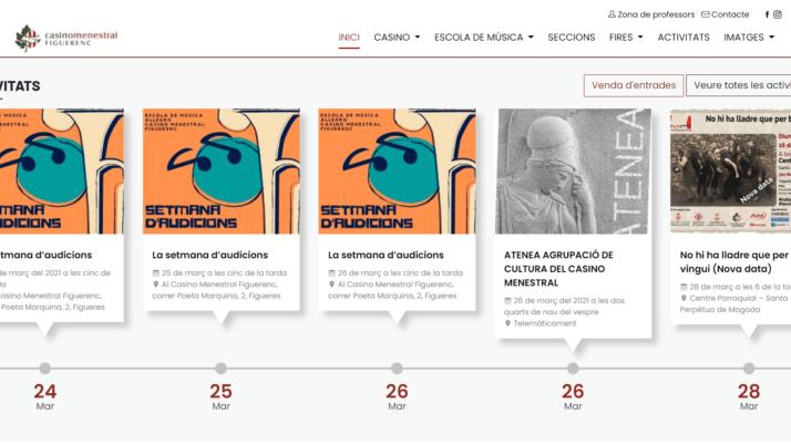 El Casino Menestral Figuerenc estrena nova web