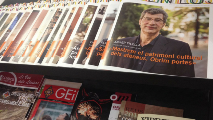 Publicitat sobre l'1-O als butlletins i revistes dels ateneus
