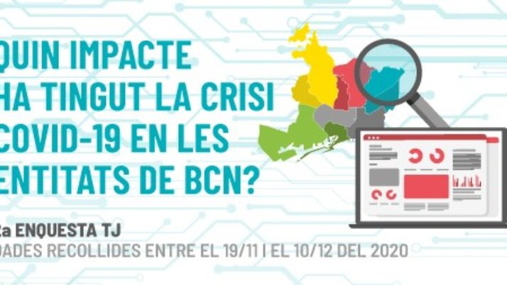 Torre Jussana publica l'informe de resultats de la segona enquesta sobre l'impacte de la Covid-19 en les entitats de Barcelona