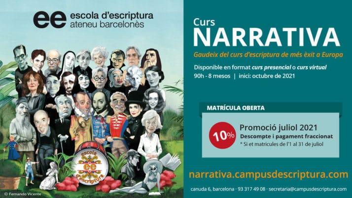 L'Escolad'Escripturade l'Ateneu Barcelonès inicia el procés de matriculació per al propercurs 2021/22.